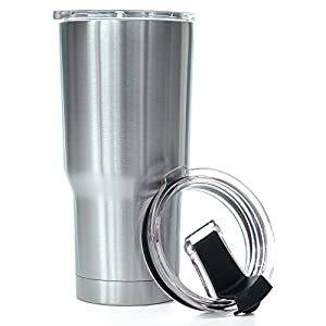 Greatness Line NEW 20 oz. Stainless Steel Tumbler Value Pack with 2 Lids - Double Wall Insulated Travel Cup - Keeps Ice Cold & Hot for Hours
