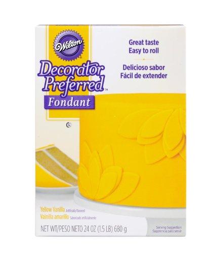 Wilton 24-Ounce, Decorator Preferred Fondant, Yellow