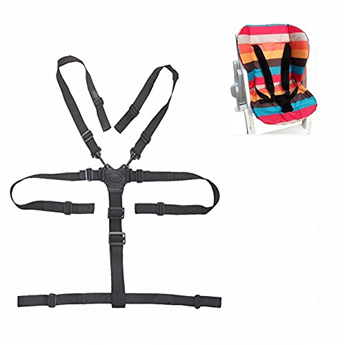 5 Point Harness Baby Chair Stroller Safety Belt Universal High Chair Seat Belt for Wooden High Chair Stroller Pushchair (Belt Chair Seat High)