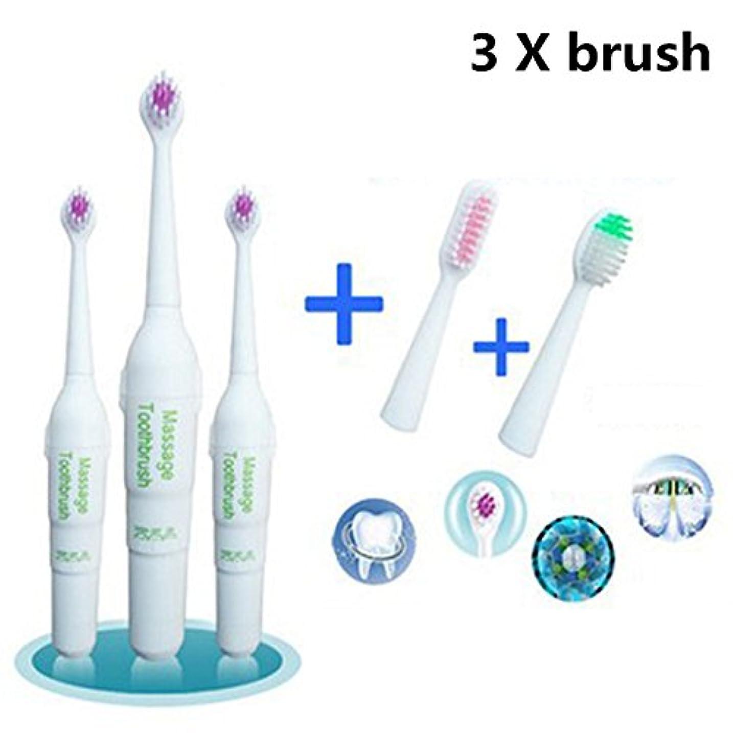 開梱に話す精査RaiFu 電動歯ブラシ ロータリー ノンスリップ 防水 2つの余分なヘッドブラシ キッズ 大人