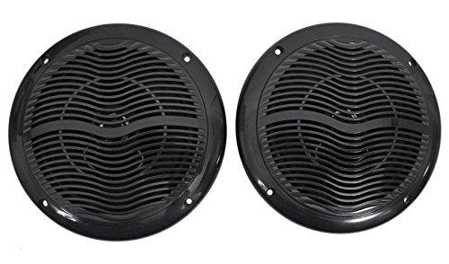 (Rockville Rmc65b Pair 6.5 Inch 600 Watt Waterproof Marine Boat Speakers 2-Way Black)