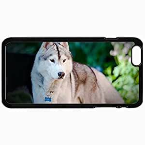Customized Cellphone Case Back Cover For iPhone 6, Protective Hardshell Case Personalized Dog Friend Look Dog Black
