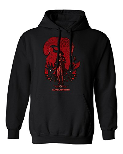RIVEBELLA New Graphic Shirt Pans Labyrinth Novelty Tee Men's Hoodie Hooded Sweatshirt (Black, M)