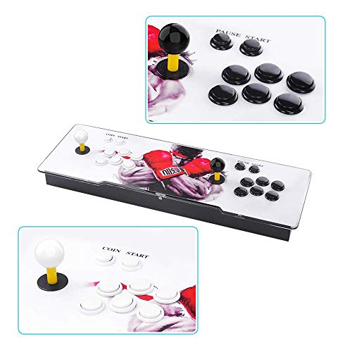 TAPDRA Pandora's Box 9 Multiplayer Joystick and Buttons Arcade Console, Cabinet Games Machines for Home, 1500 Retro Classic Video Games, Newest System with Advanced CPU, Compatible with HDMI (Grey) by TAPDRA (Image #5)