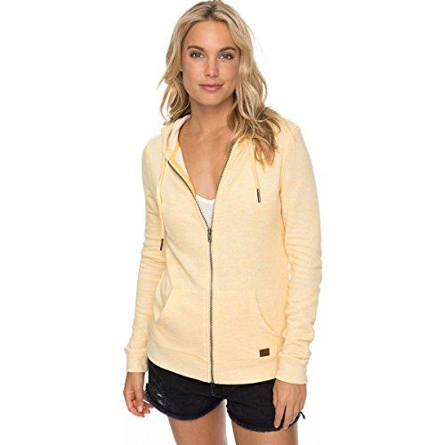 Shirt Roxy Hooded (Roxy Women's Trippin Hoody,Large,Buff Yellow Heather)