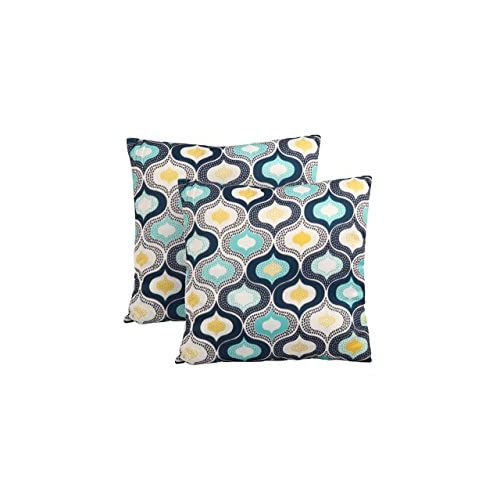 """Hot Kardiel PLW-SITGES-48X48-2P Modern Throw Accent Pillows Set of 2,Sitges,19"""" X 19"""" for cheap"""