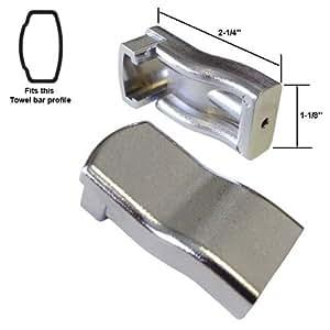 Sterling by Kohler Shower Door Towel Bar Brackets - Chrome