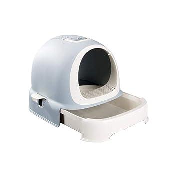 likeitwell Gato Caja de la litera Lavabo Estilo de la mascota Aseo Completamente cerrado Higiene Desodorante Extra Grande Olla Suministros para gatos: ...