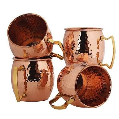 Original Moscow Mule Mug, 18-ounce Solid Copper Hammered Mos