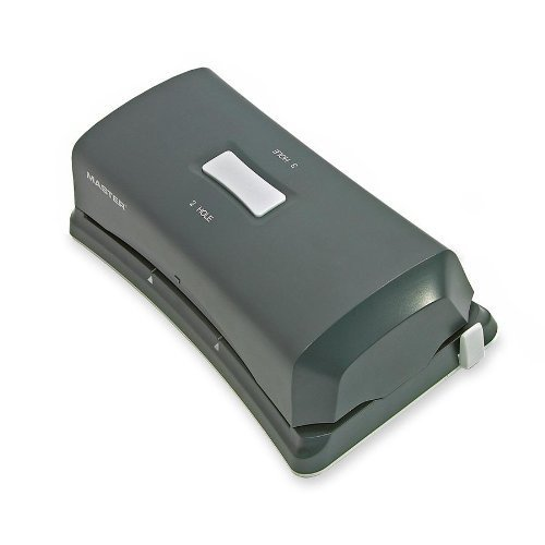 Master Duo Electric Punch, Black  / Automatic hole punch up