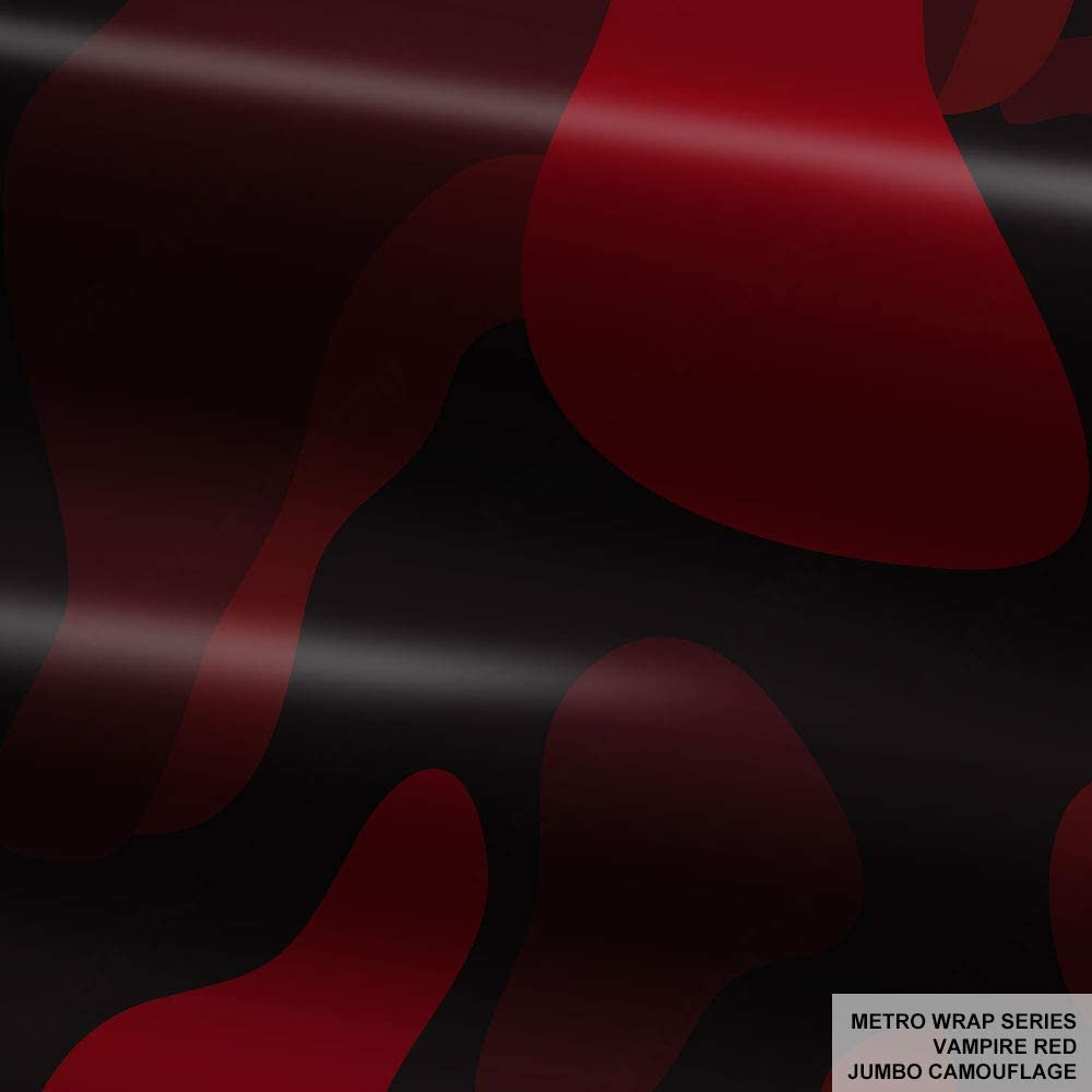 Metro Wrap Series Vampire Red Jumbo Camouflage Vinyl Car Wrap Film