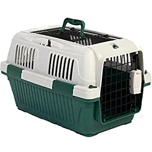 NutraPet Dog and Cat Open Grill Top Carrier - Dark Green (50 x 33 x 29 cm)