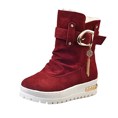 QUICKLYLY Botas De Nieve Mujer,Botines para Adulto,Zapatillas/Zapatos De Invierno Calzado Antideslizante Mantenga Cálidas Borlas: Amazon.es: Deportes y aire ...