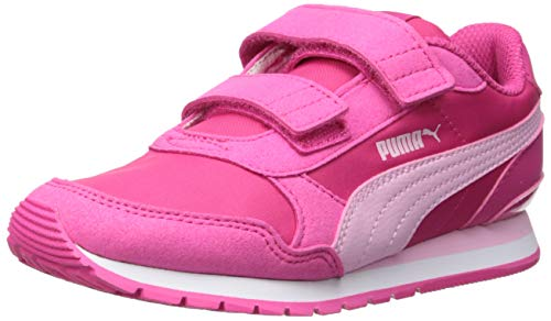 PUMA Unisex ST Runner Velcro Sneaker fuchsiapurple-palepink-white 13 M US Little Kid