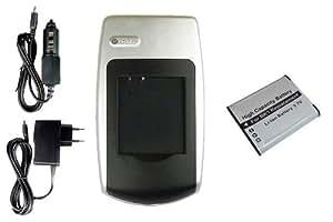 Batería + Cargador para Sony Bloggie MHS-CM5, MHS-PM1, MHS-PM5 // Webbie MHS-PM1