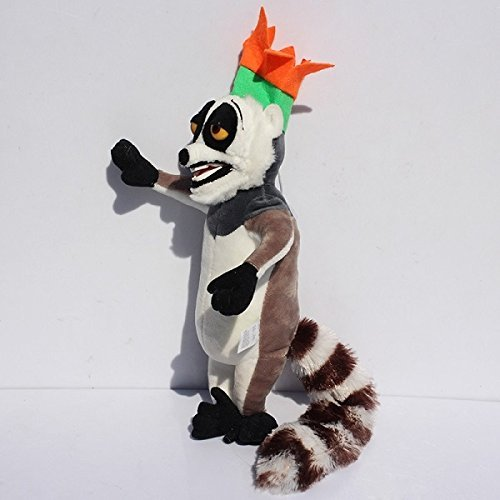 Madagascar Plush 11.8 Inch / 30cm King Julien Lemur Doll Stuffed Animals Figure Soft Anime Collection Toy (Best Of King Julian Madagascar)