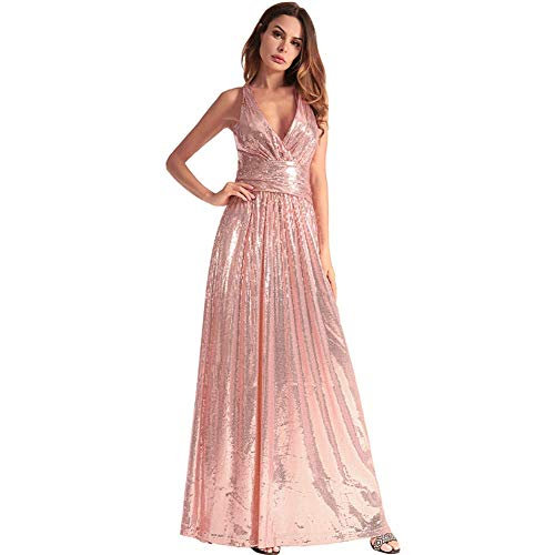 v Slim Neck Pink Cerimonia Da Per Donna Cocktail Dress Party Famlyjk Abiti P6q1XYnxxH