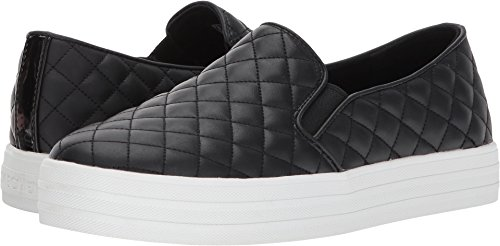 Street Duvet - Skechers Street Women's Double up-Quilted Fashion Sneaker, Black, 10 M US