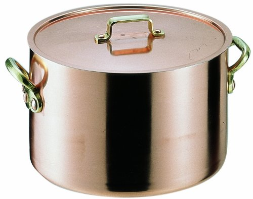 遠藤商事 業務用 エトール 半寸胴鍋 24cm 銅真鍮錫 日本製 AHV05024 24cm  B001T180L0