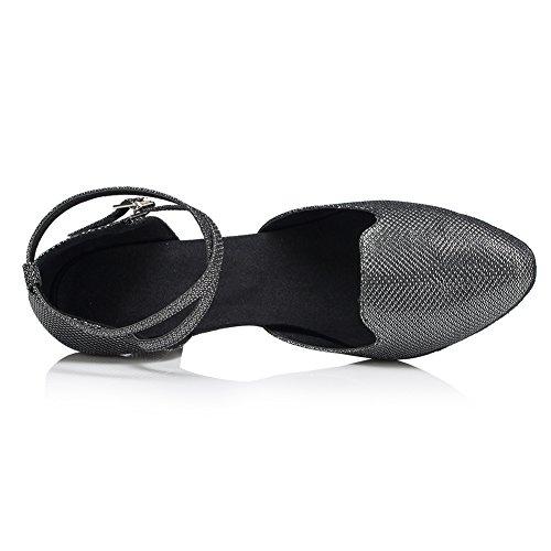 schwarz Schwarz Tanzschuhe Damen misu Schwarz qwYUU1