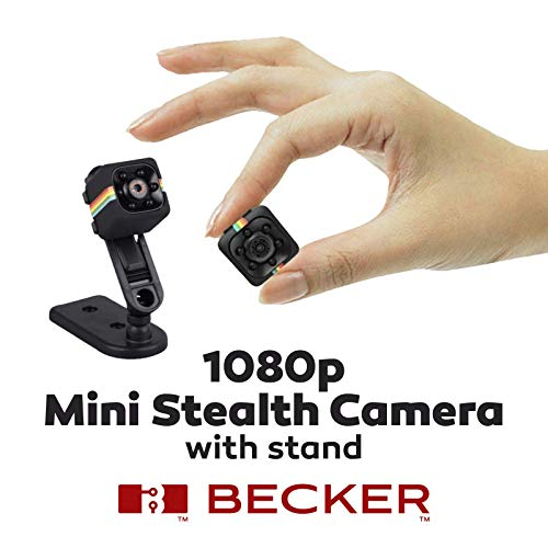 BECKER TM Mini Hidden Camera – Small Camera 1080P – Connects with Android iOS for Remote Control – HD Quality Pictures for Personal and Office Security – Portable Flexible with Easy and Quick Install