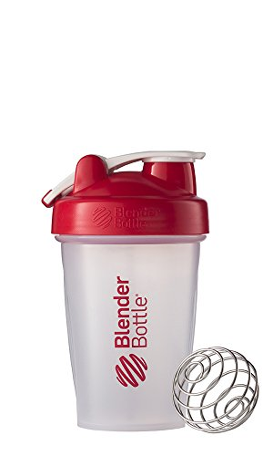 Blender Bottle Classic Loop Top Shaker Bottle, 20-Ounce, Clear/Red