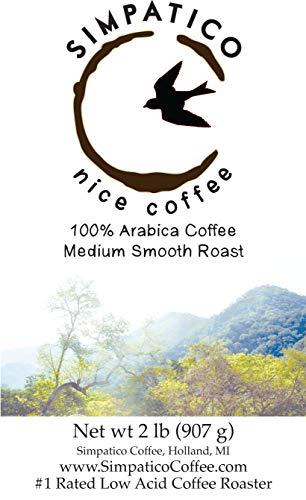Simpatico Low Acid Coffee - Regular - Medium - Ground (2 pound bag)