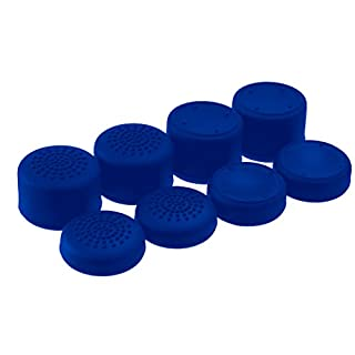 AceShot Thumb Grips (8pc) for Xbox One (Series X, S) by Foamy Lizard – Sweat Free 100% Silicone Precision Raised Antislip Rubber Analog Stick Grips For Xbox One Controller (8 grips) BLUE