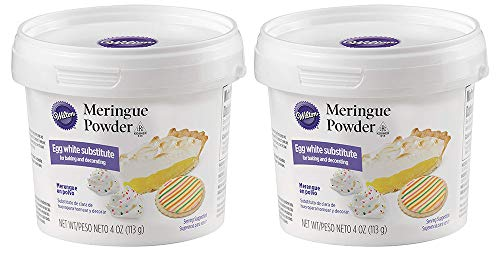 Wilton 702-6020, Egg White Substitue Meringue Powder, 4 oz (2 Sets)