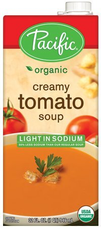 Pacific Foods, Organic Light in Sodium Creamy Tomato Soup (Pack of 2)