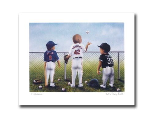 Lets Play Baseball Thomas Belle And Vaughn Sport Wall Picture 8x10 Art Print