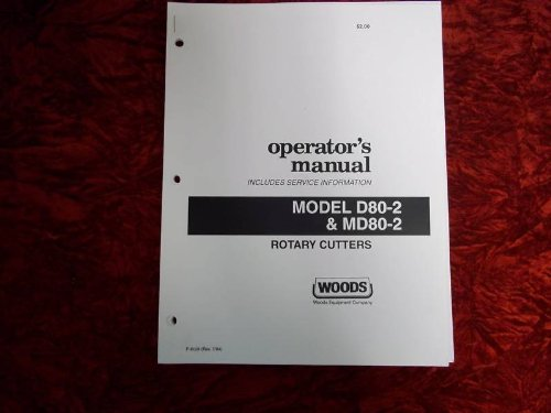 Woods D80-2/MD80-2 Rotary Cutter OEM OEM Owners Manual Oem Wood