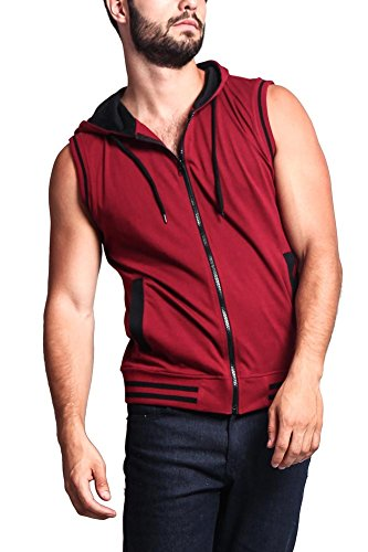 G Style Lightweight Sleeveless Contrast Hoodie product image