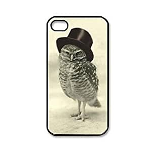 Sunny Doll Case - Vintage Retro Owl Pattern Plastic Hard Case for iPhone 4/4S