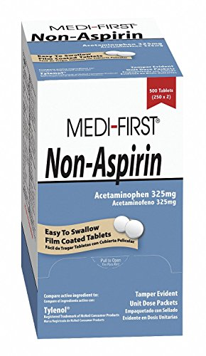 - Non-Aspirin, Tablet, 325mg, PK100