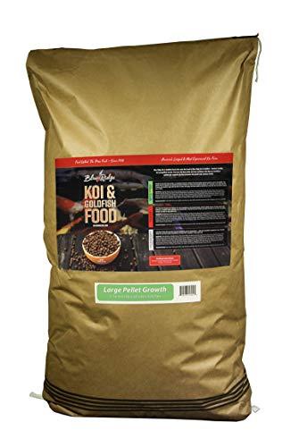 Blue Ridge Fish Food Pellets [50LB] Koi and Goldfish Growth Formula, Large Floating Pellet, Balanced Diet