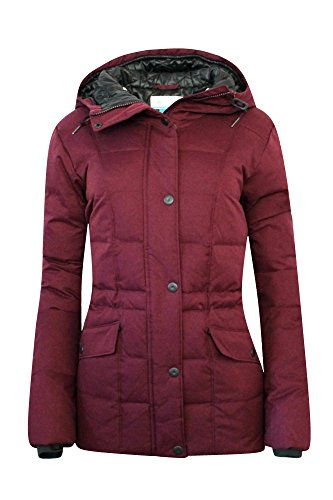 Columbia Womens Werner Peak Down Hooded Insulated Jacket Parka (S, Burgandy)
