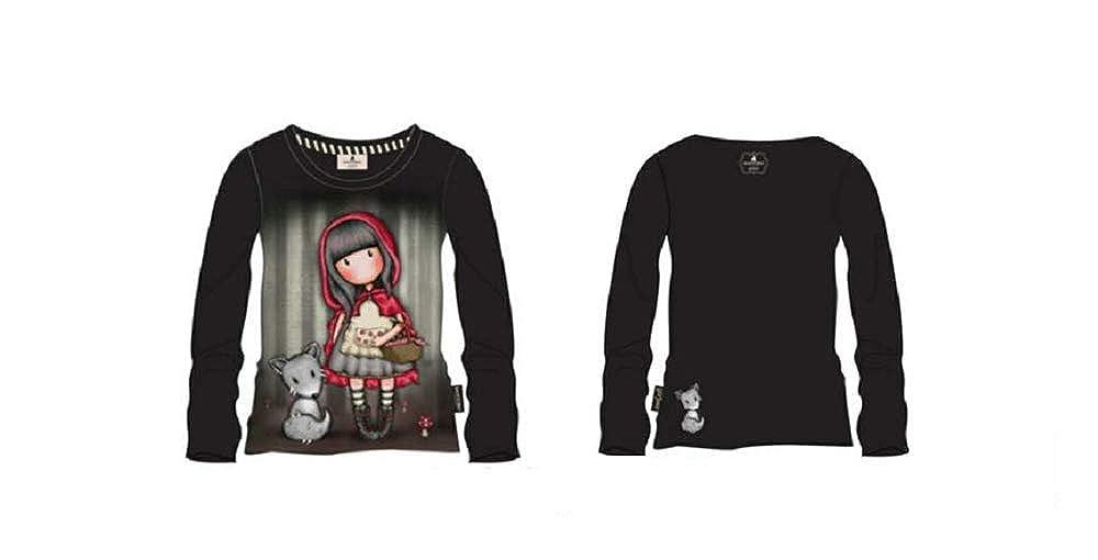 Santoro T-Shirt Maglia Lunga 8//14 Anni Little Red