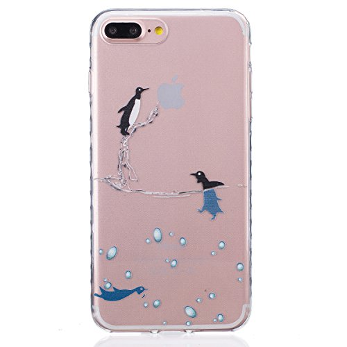 Für Apple iPhone 6 Plus / iPhone 6S Plus (5.5 Zoll) Hülle ZeWoo® TPU Schutzhülle Silikon Tasche Case Cover - BF076 / Dolphins