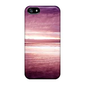 Cute Tpu No.5 Case Purple Nature Case Cover For Iphone 5/5s by ruishername