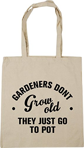 Bag they to 10 litres Gym x38cm pot don't Shopping Beach Gardeners Tote HippoWarehouse Natural go 42cm grow old just OTxqw0aI