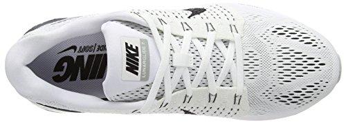 Nike Lunarglide 7 Zapatillas de running, Hombre Blanco / Negro / Gris (White/Black-Anthracite-Cl Grey)