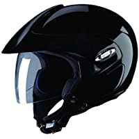 Studds Marshall SUS_MOFH_BLKL Open Face Helmet (Black, L)