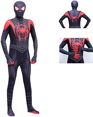 KOUYNHK Spiderman Miles Morales Máscara Traje Traje Mono Zentai ...