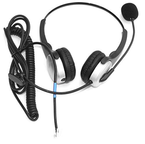 Voistek Binaural Call Center Handsfree Telephone Headphone Headset with Noise Ca