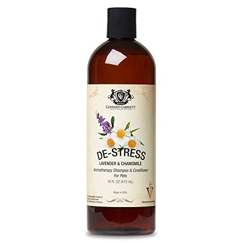 Gerrard Larriett Oatmeal Anti-Itch Dog Shampoo Conditioner w/ Odor Control Vet Approved Doggie Deodorizing, Deshedding + Puppy Grooming and Natural Dry Skin Relief Treatment w/ Aloe and Lavender 16 OZ