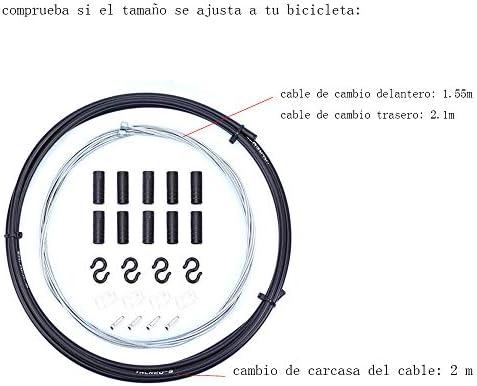 Gasea Cable de Cambio Bicicleta, Cable de Cambio Velocidades de ...