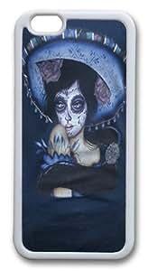 Blue Sombrero Custom iphone 6 plus 5.5 inch Case Cover TPU White