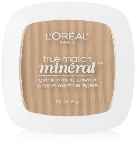 - L'Oreal Paris True Match Mineral Pressed Powder, Buff Beige, 0.31 Ounce