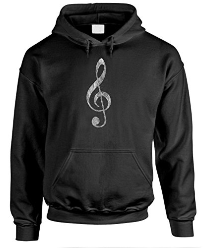 TREBLE CLEF - bass music hip hop rap rock Pullover Hoodie, XL, Black for $<!--$27.99-->